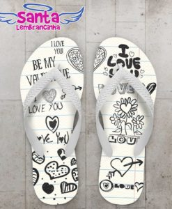 Chinelo Dia dos Namorados I Love You - COD 2367