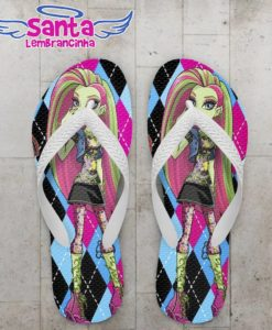 Chinelo Infantil Monster High Personalizado - COD 2601