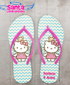 Chinelo infantil hello kitty vestido rosa cod 3920