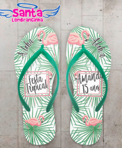 Chinelo infantil festa tropical flamingo cod 5962