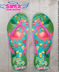 Chinelo infantil pool party flamingo cod 5958