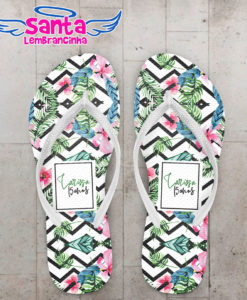Chinelo 15 anos tropical fundo chevron cod 5997