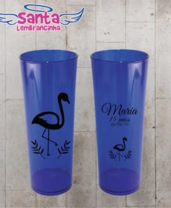 Copo long drink 15 ano flamingo personalizado – cod 6992