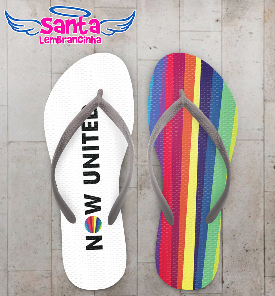 Chinelo infantil now united arco iris branco cod 9837